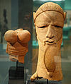 Sokoto peoples terra cotta head (300BC-400AD) from Nigeria, at the New Orleans Museum of Art.jpg