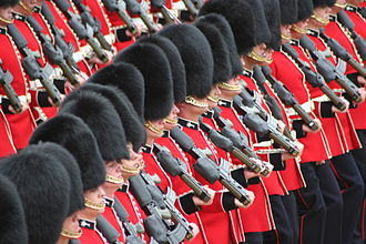 British Armed Forces - Welsh Guards Trooping the Colour.