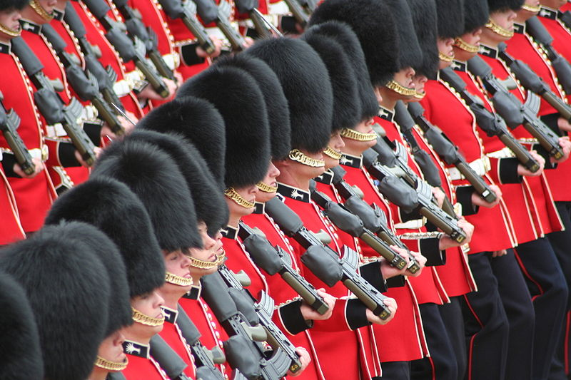 Soldiers Trooping the Colour, 16th June 2007.jpg