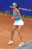 Sorana Cîrstea playing at the 2011 BCR Open Romania Ladies.jpg