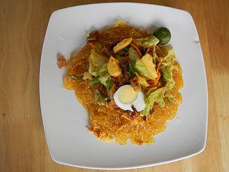 Cellophane noodles - Pancit Sotanghon (Lin-Mers, Baliuag, Bulacan).