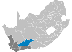 Ligging Central Karoo District Municipality
