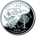 South Carolina quarter, reverse side, 2000.png