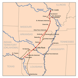 US Route In Arkansas Wikipedia - Map of us arkansas