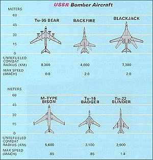 Long Range Aviation - Comparison of Soviet Strategic Aviation aircraft towards the end of the Cold War