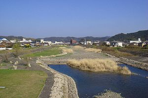 Ainan, Ehime - A view of the Sozu River in Ainan