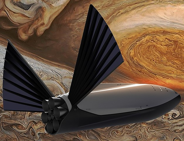 [SpaceX] Avenir, perspectives et opinions - Page 25 627px-SpaceX-InterplanetarySpaceship-back_quarter_view-with_solar_extended%2C_at_Jupiter-cropped