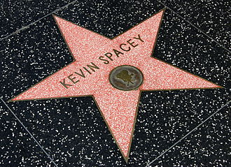 Kevin Spacey - Spacey's star on the Hollywood Walk of Fame, laid in 1999