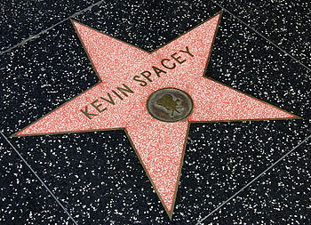 Kevin Spacey's star on the Hollywood Walk of Fame