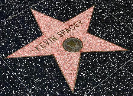Spacey's star on the Hollywood Walk of Fame, laid in 1999