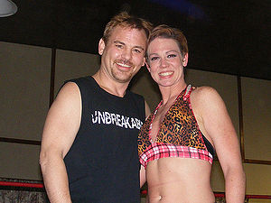 Nicole Raczynski - Roxxi with Spike Dudley at a Top Rope Promotions event.