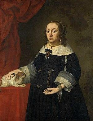 Anna Catherine Constance Vasa - Portrait by Johannes Spilberg, ca. 1648.