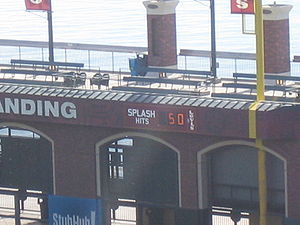 "AT&T Park - The 50 ""Splash Hit"" counter"