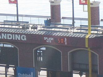 "Oracle Park - The 50 ""Splash Hit"" counter"