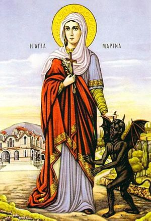 Timeline of Orthodoxy in Greece (33–717) - St. Marina the Great-Martyr (†286).