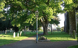 Malvern Link - St Matthias Churchyard and the Link Stone