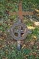 St Mary the Virgin's Church, Aythorpe Roding churchyard cast iron grave cross, Essex, England.jpg
