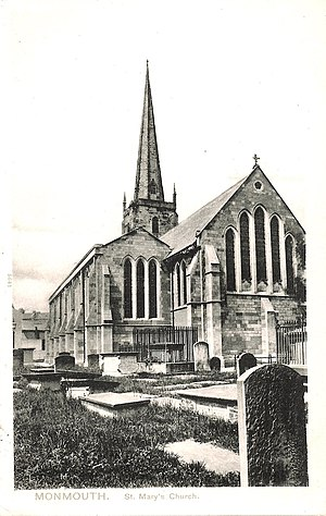 St Mary's Priory Church, Monmouth - St Mary's Church, 1905
