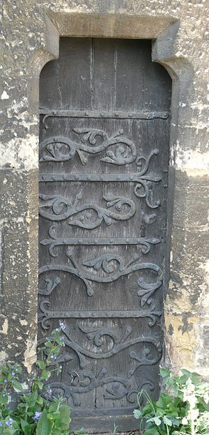 St Thomas the Martyr's Church, Oxford - The 13th-century priest's door in the south wall.