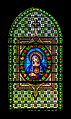 Stained-glass window of the Saint Martial Church of Marcillac-Vallon 03.jpg