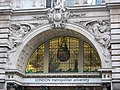 Stained glass window above the entrance to London Metropolitan University, Moorgate, EC2 - geograph.org.uk - 1118207.jpg