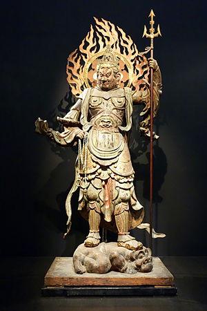 Jōruri-ji - Koumokuten, part of the National Treasure group of Four Heavenly Kings