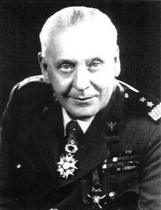 Stanisław Maczek - After the war, still in the rank of Generał dywizji.