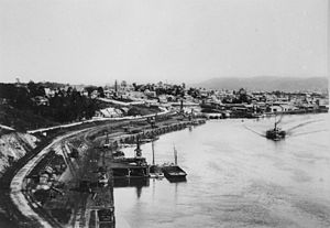 South Brisbane, Queensland - View from River Terrace c.1895