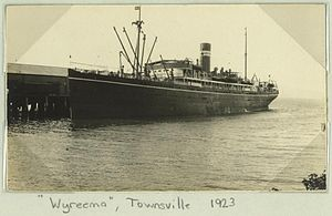Wyreema - Image: State Lib Qld 1 259309 Wyreema docked at Townsville, 1923