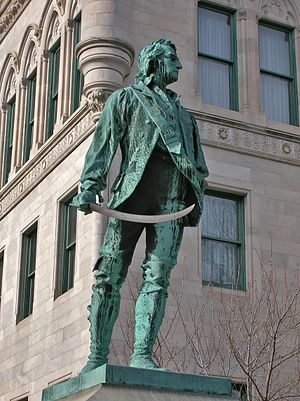 Thomas Knowlton - Thomas Knowlton statue (Enoch Smith Woods, sculptor) at Connecticut State Capitol