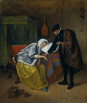 Doctor's visit - Jan Steen's The Doctor's Visit, c. 1663
