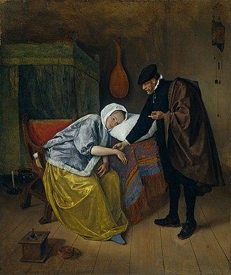 Doctor's visit - Jan Steen's The Doctor's Visit, c. 1663