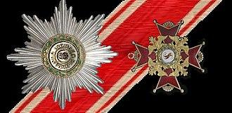 Order of Saint Stanislaus (House of Romanov) - Image: Ster Lint en Grootkruis van Sint Stanislaus Polen 1765