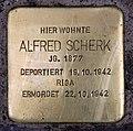 Stolperstein Bayerische Str 27 (Wilmd) Alfred Scherk.jpg