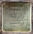 Stolperstein Bleibtreustr 50 (Charl) Leo Israel.jpg
