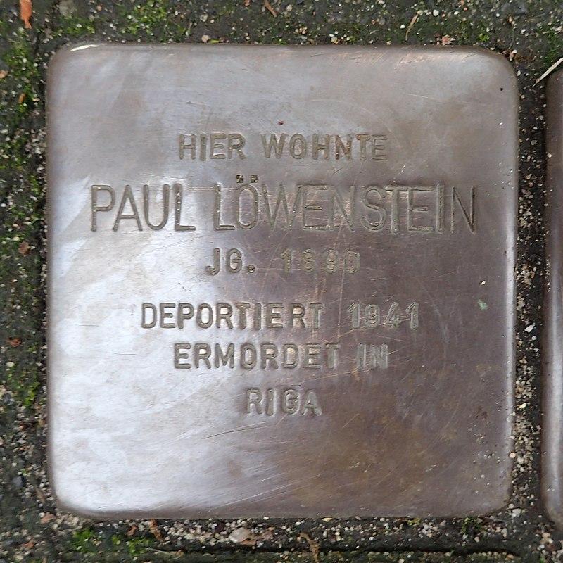 Stolperstein für Paul Löwenstein