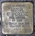 Stolperstein Donaustr 18 (Neukö) Martha Schwersenz.jpg