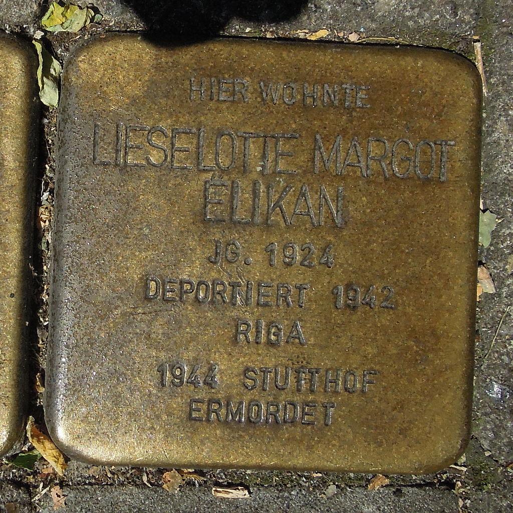Stolperstein Gelsenkirchen Arminstraße 3 Liselotte Margot Elikan.JPG