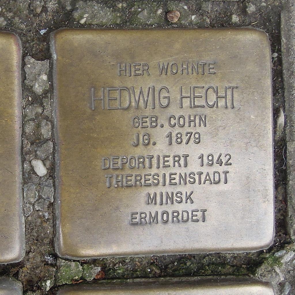 Stolperstein Herford Gehrenberg 1 Hedwig Hecht