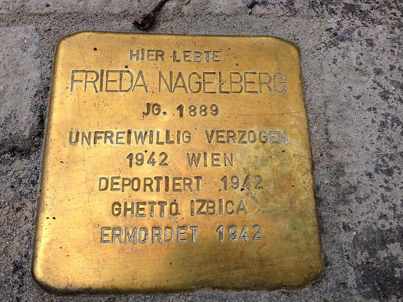 File:Stolperstein Hohenems Frieda Nagelberg.jpg