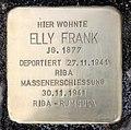 Stolperstein Klopstockstr 7 (Hansa) Elly Frank.jpg