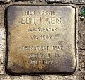 Stolperstein Petersburger Str 63 (Frhai) Edith Weis.jpg