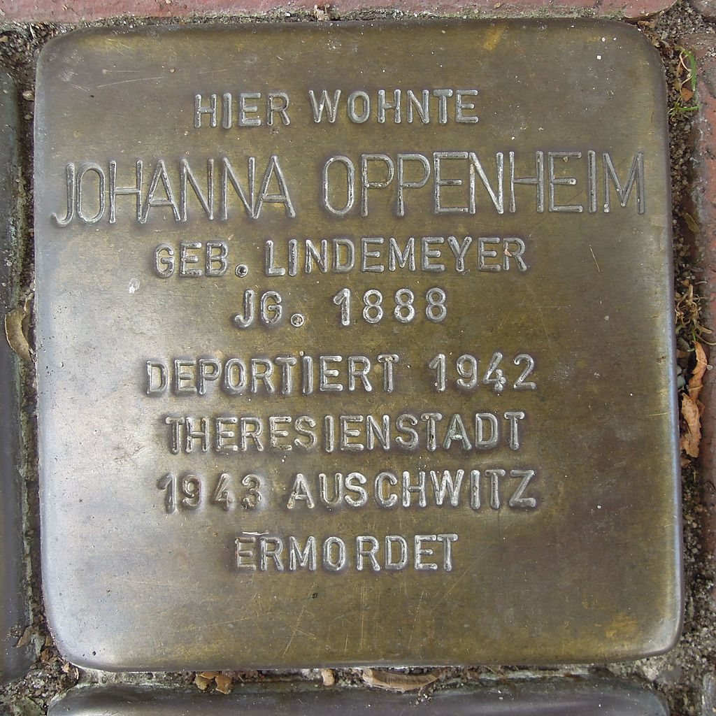 Stolperstein Petershagen Mindenerstraße 12 Johanna Oppenheim