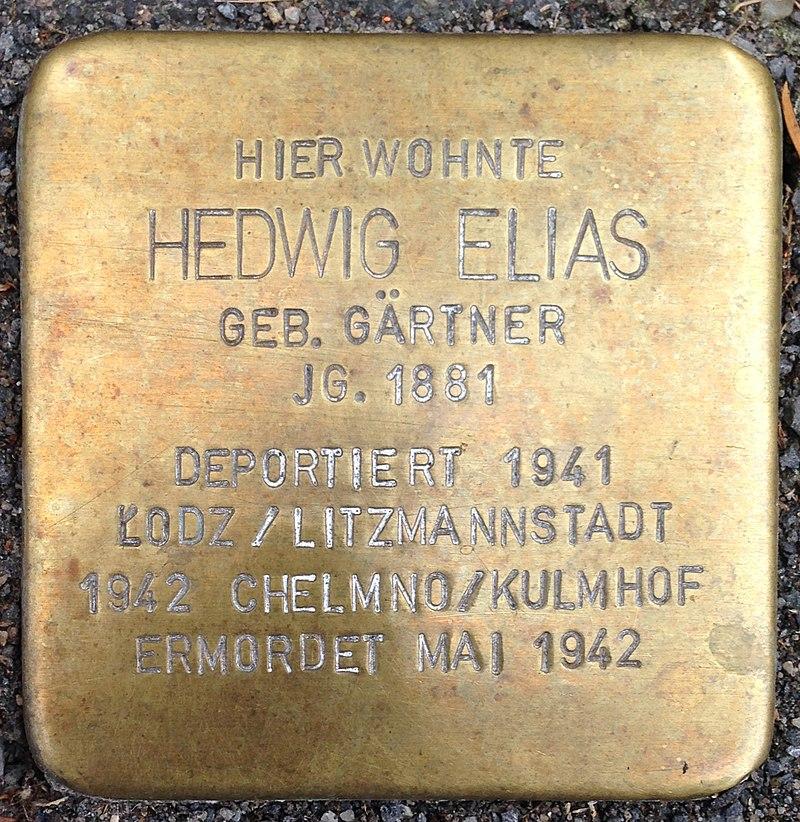 Stolperstein Waldbröl Querstraße 9 Hedwig Elias