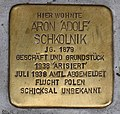 Stolperstein für Aron Schkolnik 2018 (Graz).jpg