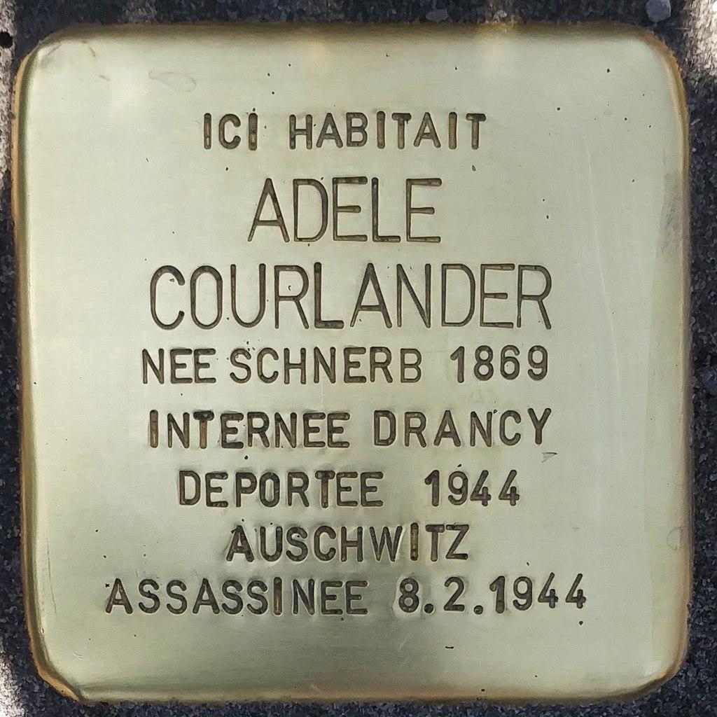 Stolperstein Adèle Courlander (Herrlisheim-près-Colmar)