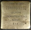Stumbling block for Edmund Klee (Weyerstraße 122)