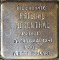 Stumbling block for Friedel Rosenthal (Im Dau 12)