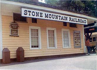 Stone Mountain Scenic Railroad - Image: Stone Mountain Railroad, GA