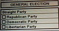 Straight Party voting on Harris County, Texas ballot in 2008 (299101265).jpg